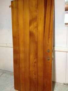 refinished wood door